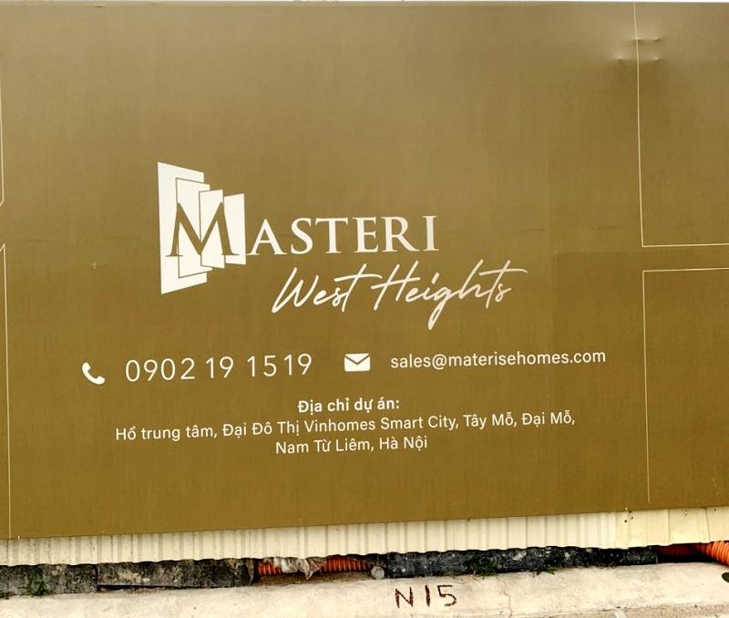 Masteri West Heights là tên gọi của dự án nào?