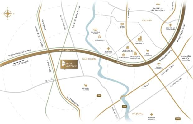 Vị trí Masteri West Heights - Tọa độ vàng thúc đẩy tiềm năng tăng giá