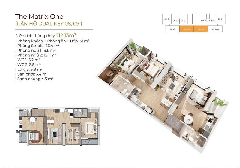 Căn hộ Dual key The Matrix One - 1 căn hộ 2 giá trị, lợi ích nhân ba